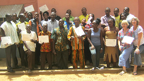 Group photo, Sandema, GhanaMay 2014
